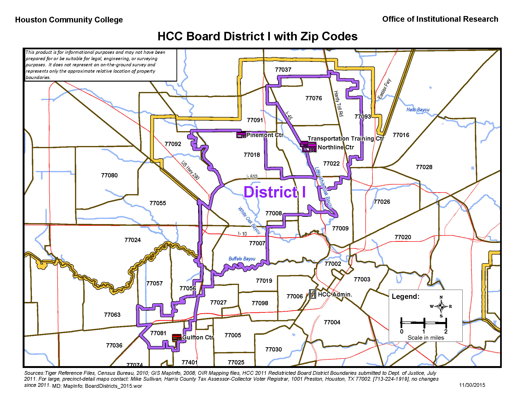 District I Zip Codes Map Houston Community College Hcc