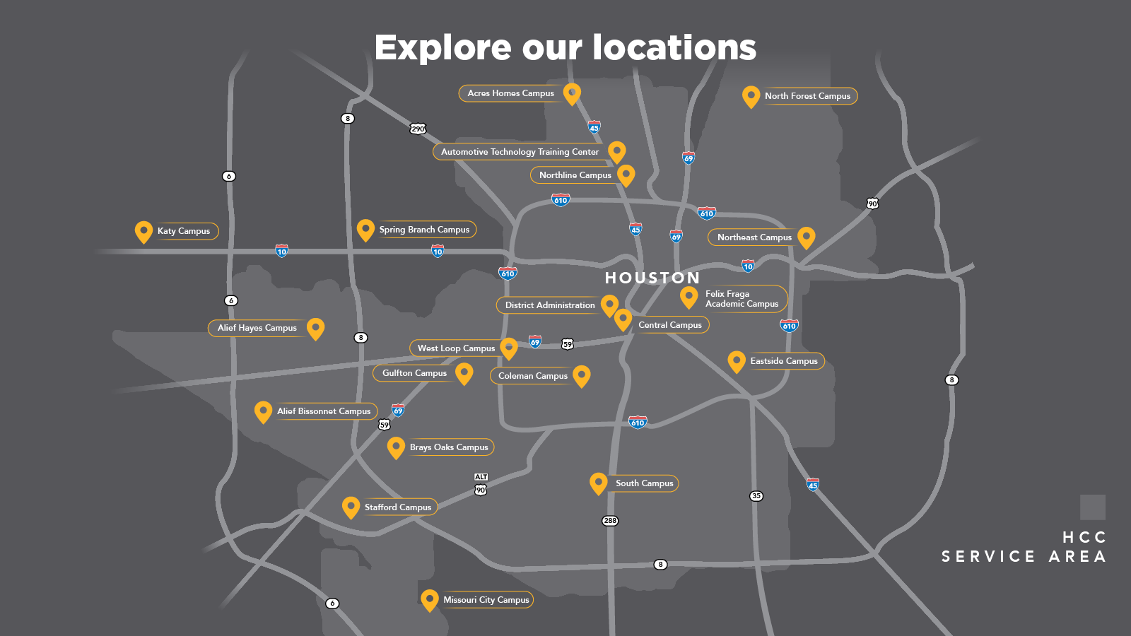 Explore our locations - map