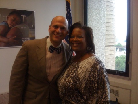 Dr. Carla Tyson-Howard with Dr. Farzad Mostashari, MD, National Coordinator for Health Information Technology for the White House.