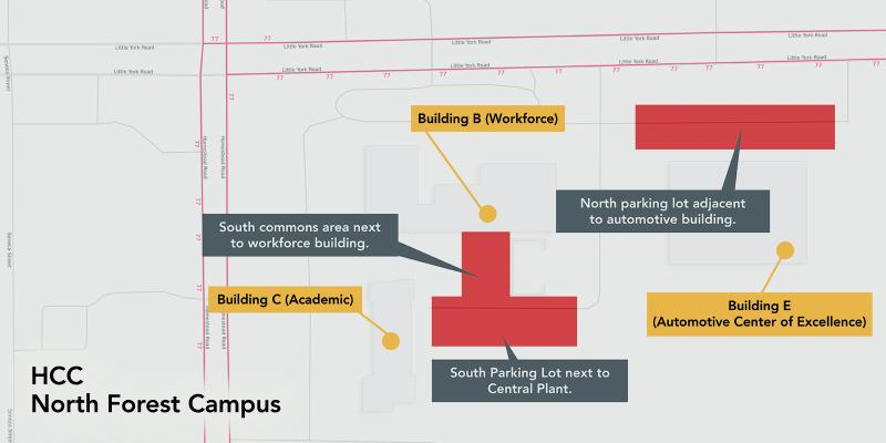 Outdoor Wifi Zones for North Forest Campus