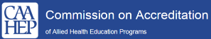 The Commission on Accreditation of Allied Health Education Programs (CAAHEP) Logo