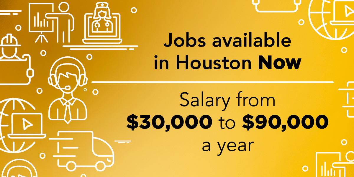 Jobs Now Houston powered by HCC:  There are jobs in Houston