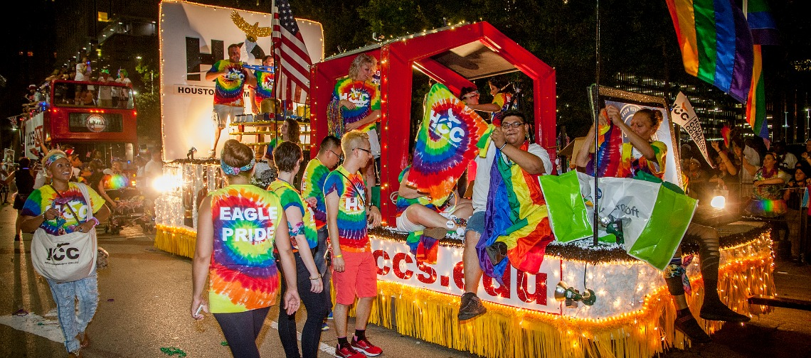 HCC took part in the 2015 Houston Pride Parade in downtown.