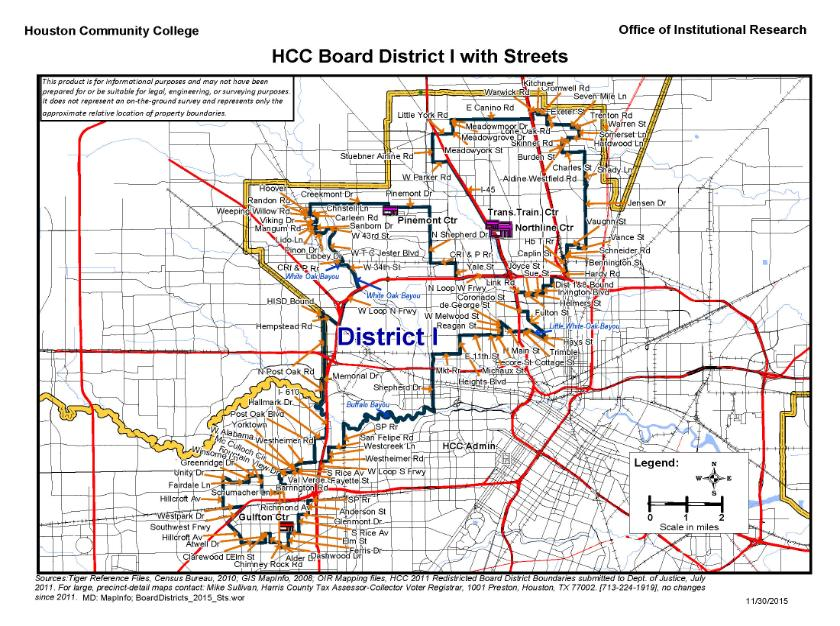 District I Street Map Houston Community College Hcc