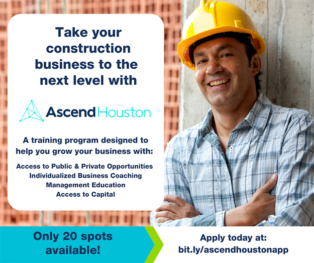 a construction poster with a man in a hard hat
